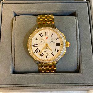 Michele 14K Gold Diamond Watch